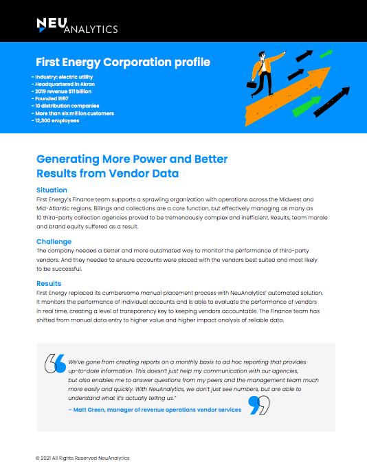 First Energy Corporation Profile - NeuAnalytics Case Study